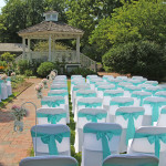 seating by gazebo