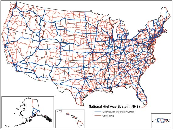 Jan Interstate Highway System - Us highway map with cities