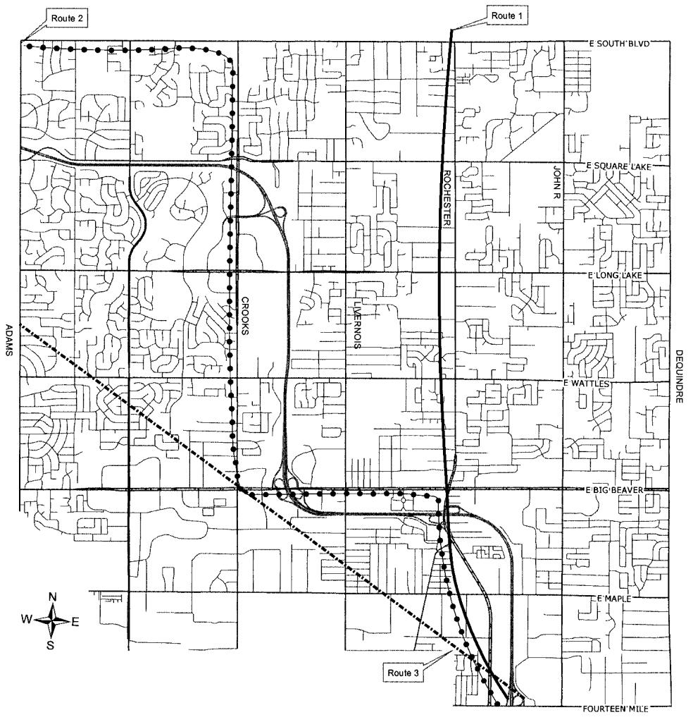1-15-15-5 Routes through Troy