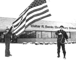 5-27-15-Walter Bemis Raises the Flag