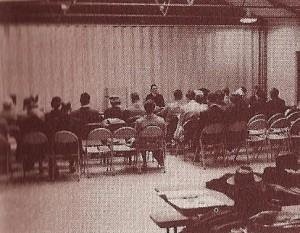 5-8-15-Congregation meets in Poppleton School 1955