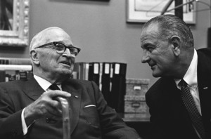 President Johnson and former President Truman
