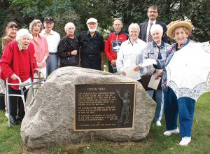 11-24-15-Lois lance at Indian Trail marker