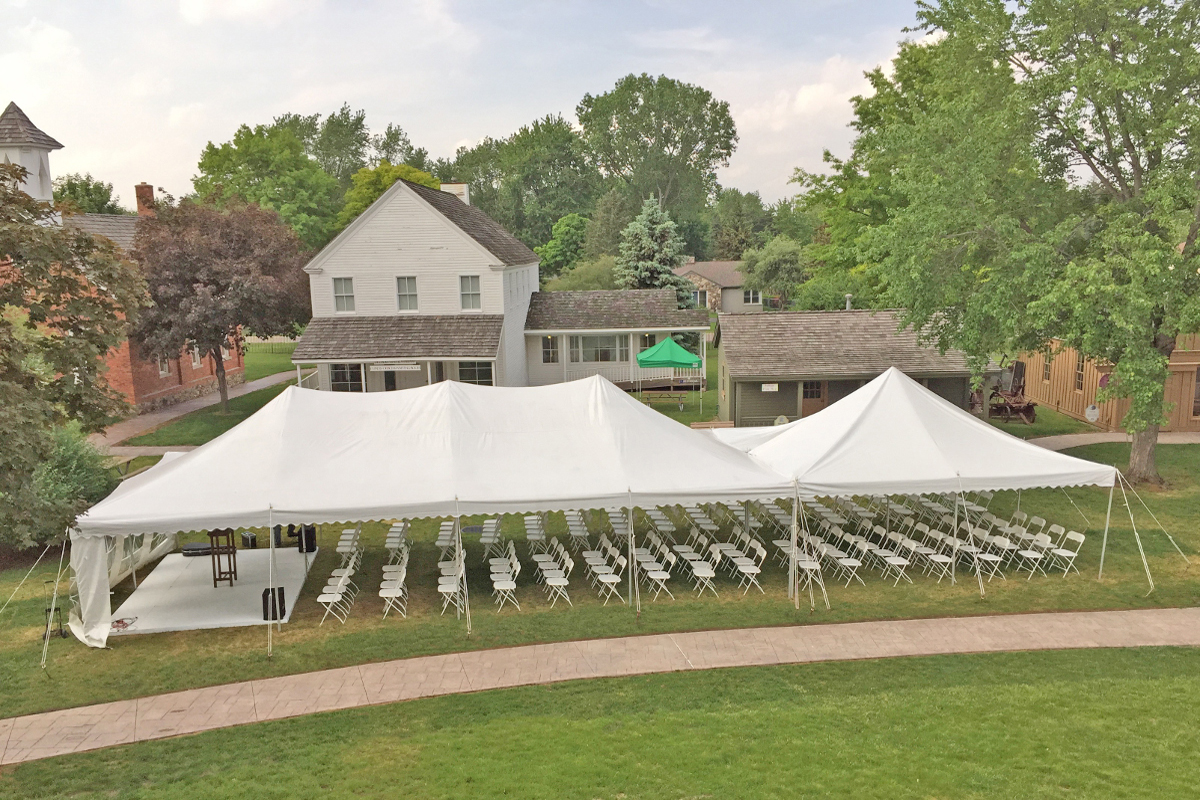 Large Green area for outside event tents