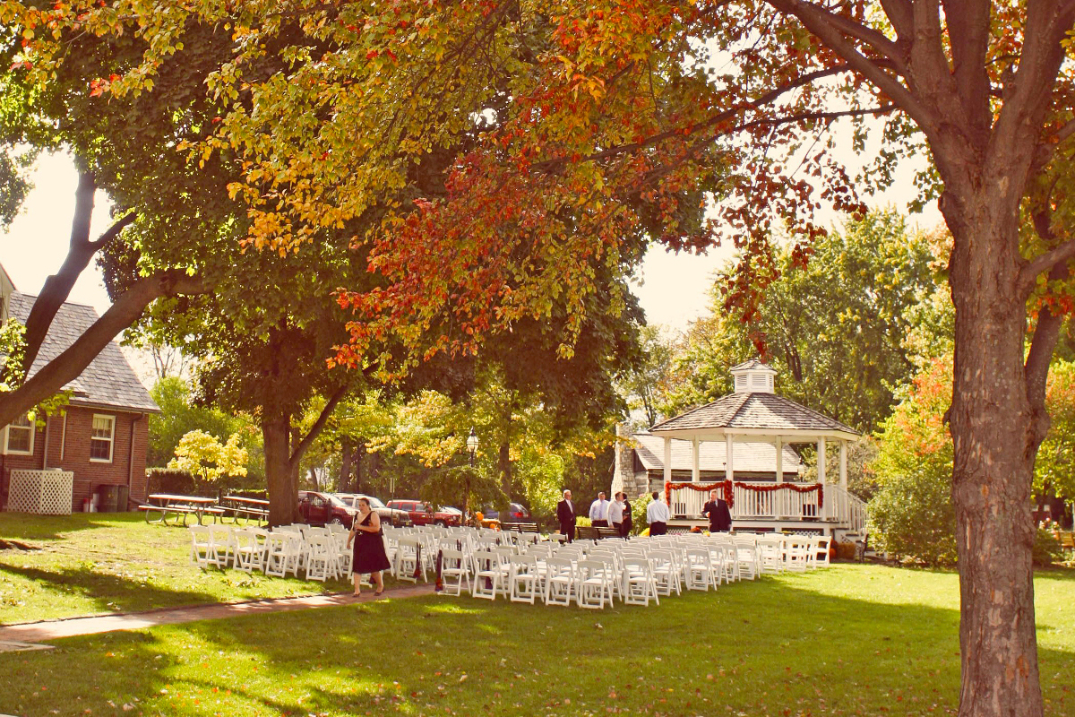 Outside function by the Gazebo in the Fall
