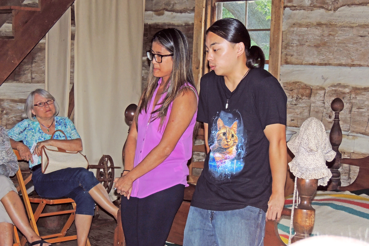 Threads Theatre in the Log Cabin with Monica Mingo and James Polony.