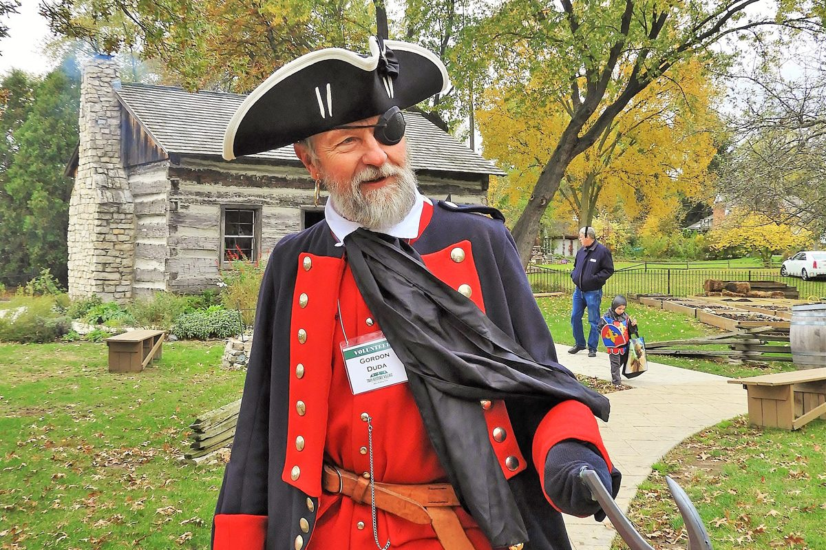 On the Walkway Volunteer Gordon Duda as Captain Hook