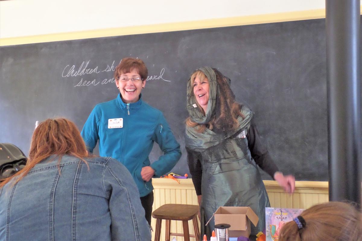 Poppleton School Craft Volunteers Linda Tingley and Lorann Jesuale