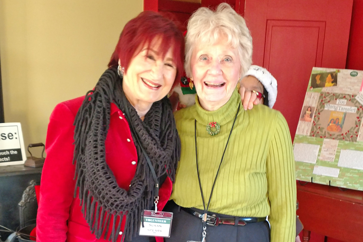 Caswell House Volunteers Susan Spears and Kay McFarland