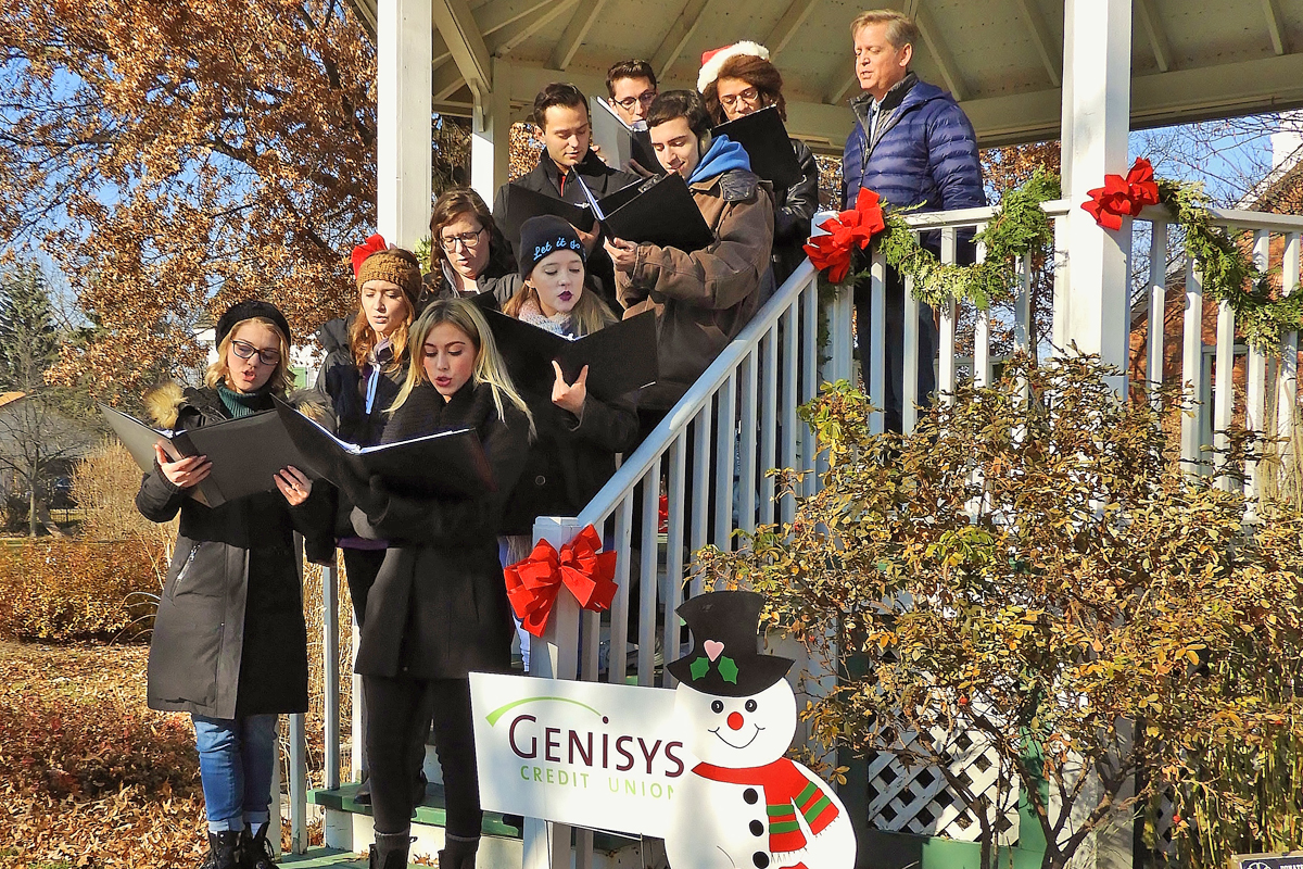 The Expressions Choir singing in the Gazebo