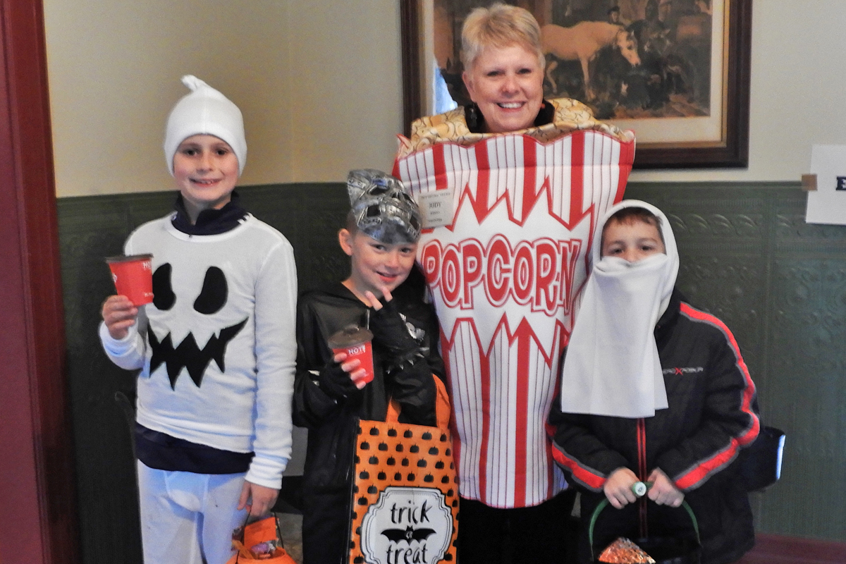 Halloween Parsonage popcorn with the kids