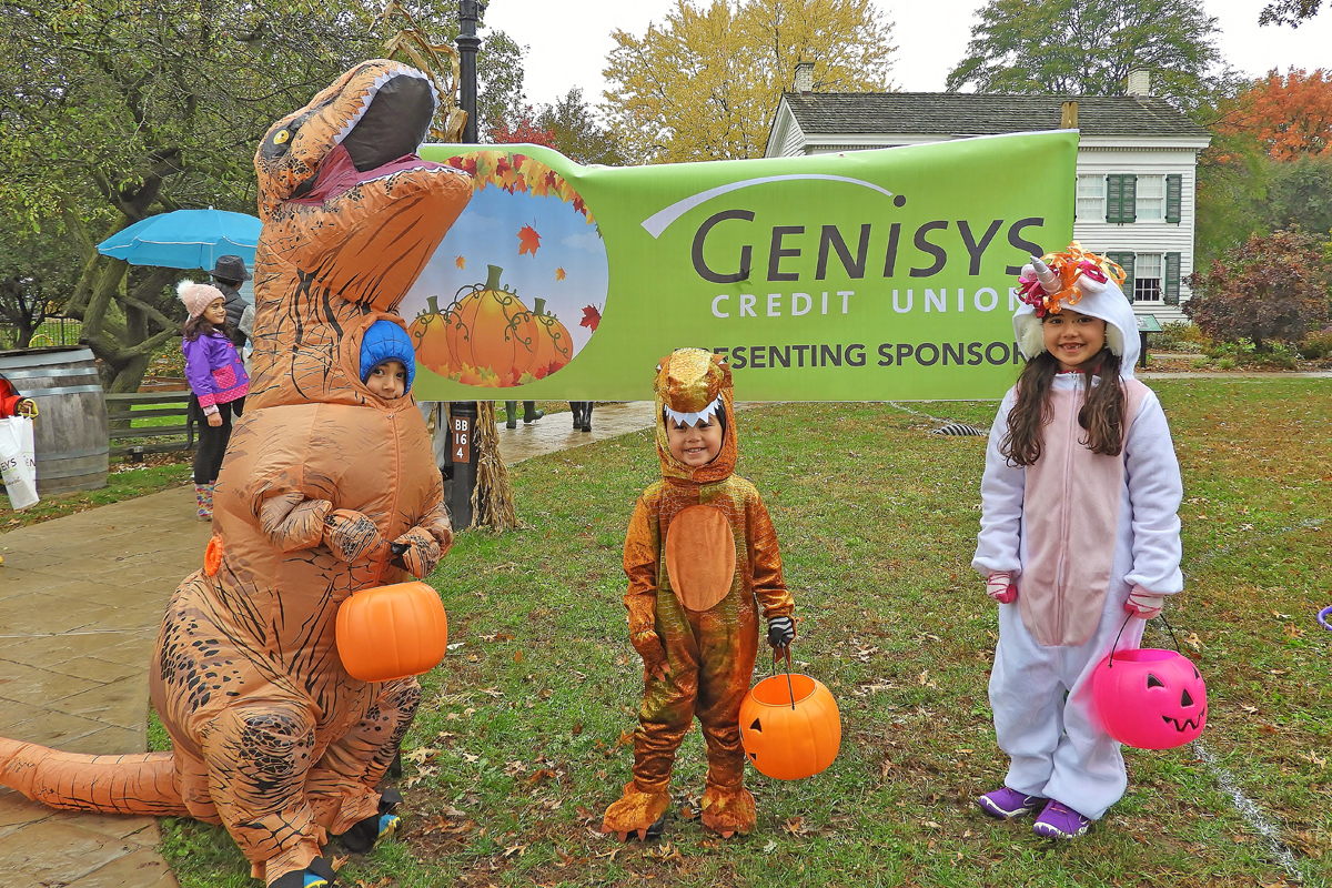 Genisys, our Halloween Sponsor with visitors