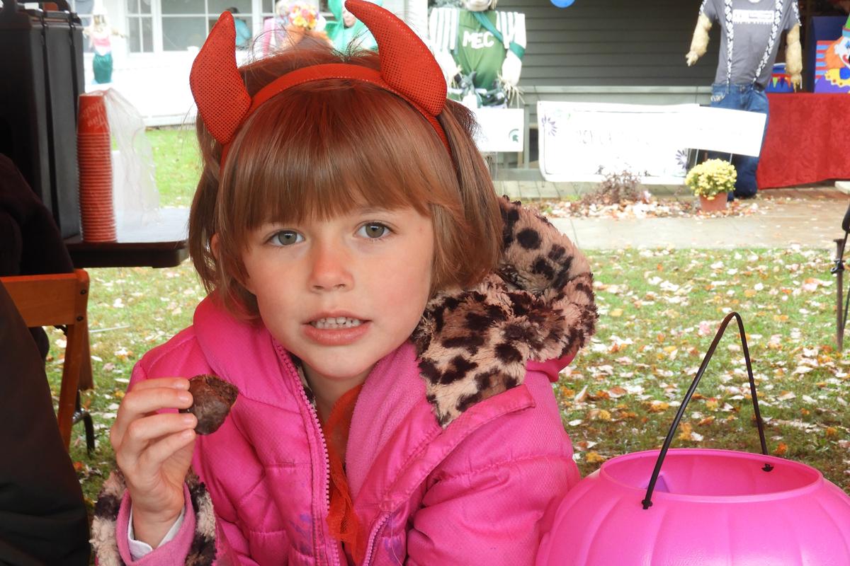 Halloween Tent snacks