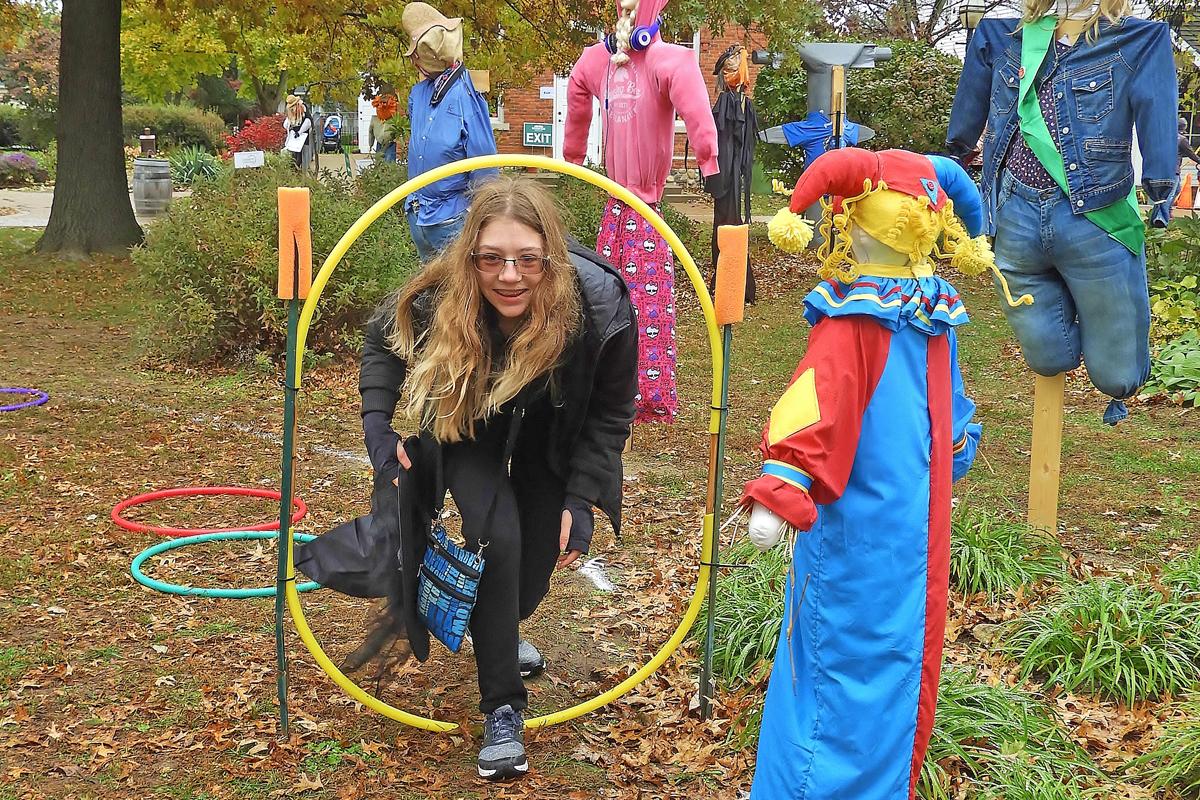 Halloween Village green hoops