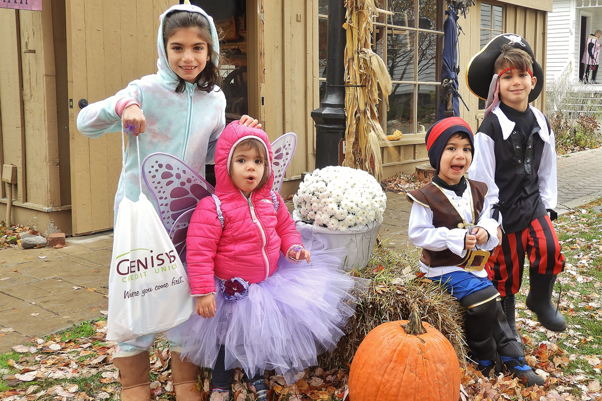 Halloween kids having fun