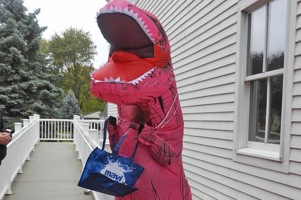 Halloween very big dinosaur