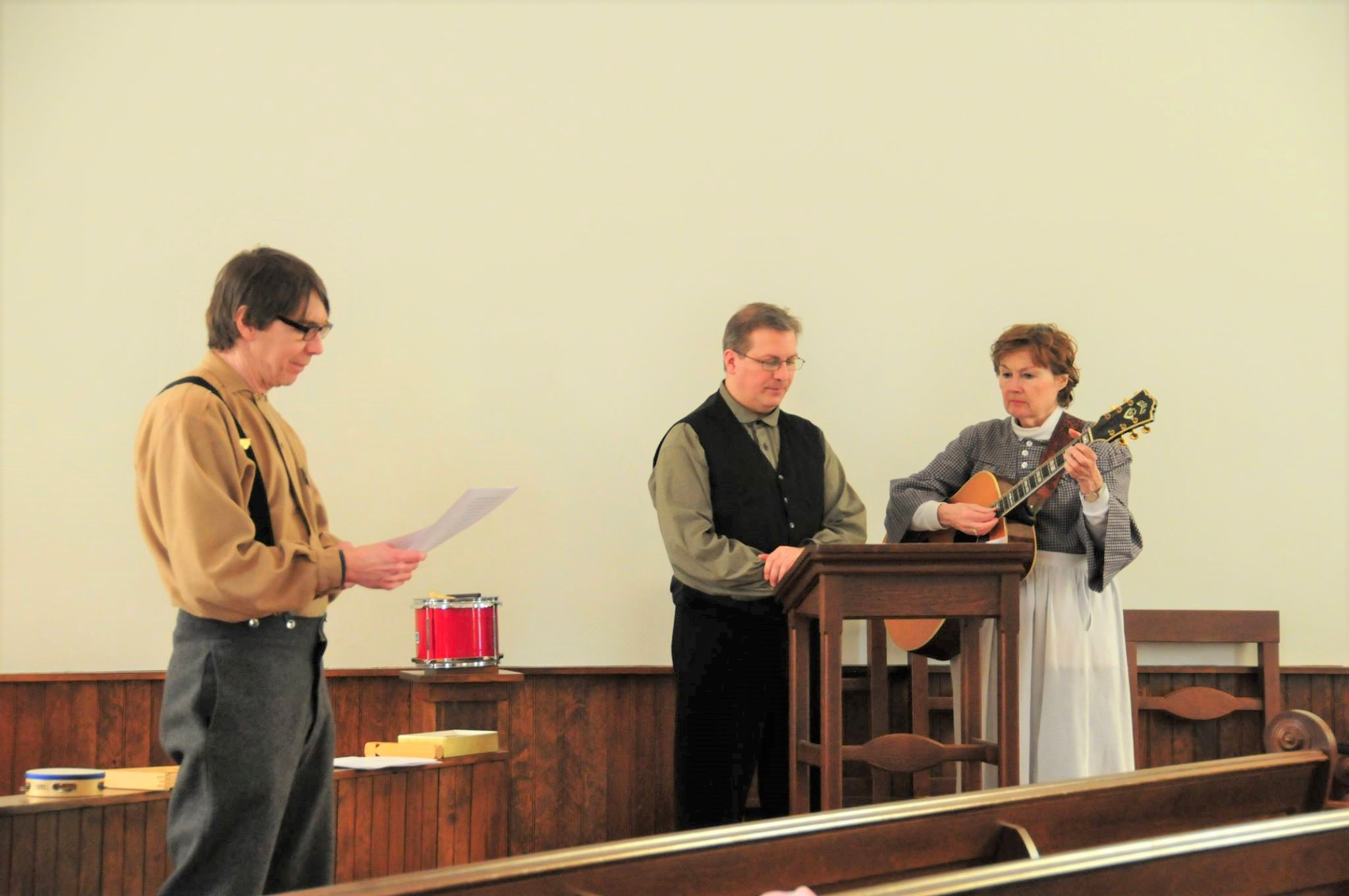 Village staff share 19th century songs