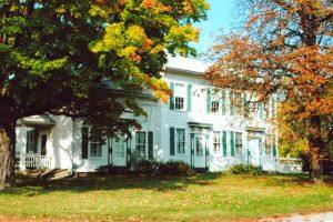 Niles Barnard house on its original foundation